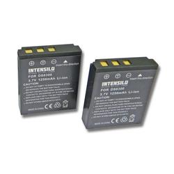 INTENSILO 2x Li-Ion Akku 1250mAh (3.7V) für Kamera Camcorder Video Revue DC 10.1, 100 wie DS8330-1, BATS8, BLI-315.