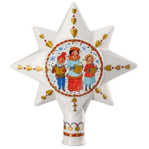 Hutschenreuther Christbaumspitze Christbaumspitze groß Sammelkollektion 2019 Weihnachtsmarkt (1-tlg) weiß