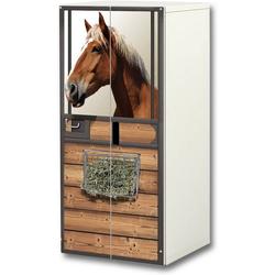 STIKKIPIX Möbelfolie SC39, (MÖBEL NICHT INKLUSIVE) Pferdewelt Aufkleber-Set, passend für den Kinderzimmer Schrank STUVA von IKEA (Korpus: 60 x 128 cm)