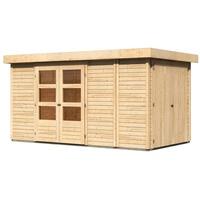 Woodfeeling Retola 5 3,77 x 2,17 m natur inkl. Anbauschrank