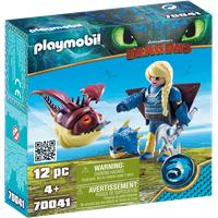 Playmobil Dragons Astrid mit Fluganzug und Hobgobbler 70041