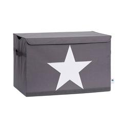 STORE IT! Aufbewahrungsbox Spielzeugtruhe Stern, grau/weiß grau
