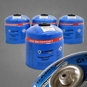 4X XXL 500g Butan Gaskartuschen mit Schraubventil | Ventilkartusche mit Schraubverschluss | Schraubgaskartusche für Lötbrenner, Campingkocher, Gasgrill, Gaskocher