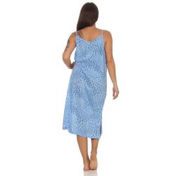 EloModa Nachthemd ohne Ärmel, 1844 (1-tlg) blau Wadenlang - L