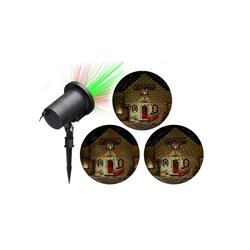 HTI-Living Projektor Outdoor Punkte rot grün Portabler Projektor