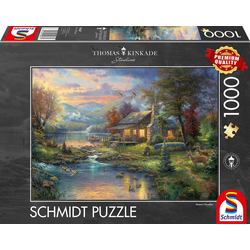 Thomas Kinkade Im Naturparadies. Puzzle 1000 Teile