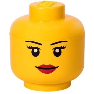LEGO Girl Aufbewahrung Kopf, gelb, 24 x 24 x 27 cm