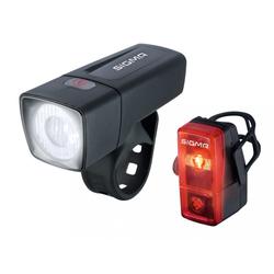 SIGMA SPORT Fahrradbeleuchtung Sigma Beleuchtungsset Aura 25 / Cubic