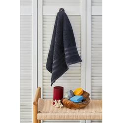 NAUTICA Handtuch Nautica Crew Handtuch, 100% Baumwolle, 500 g/m², 50x100, saugfähig, weich und langlebig grau