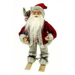 G. Wurm Dekofigur Dekofigur Weihnachtsmann auf Ski