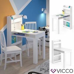 Vicco Kinder Maltisch Zeichentisch Livia Weiß Schreibtisch Ablage Kindertisch