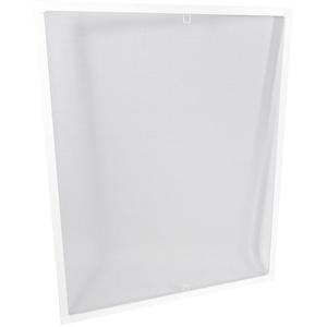 Fliegengitter mit Alu-Rahmen – Insektenschutz & Mückenschutz für Fenster zum Einhängen – Alurahmen Mückengitter Fliegenschutz Insektenschutzgitte (120x140 cm, Weiß)