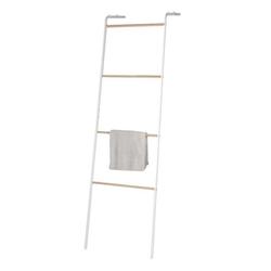 dynamic24 Handtuchleiter, Handtuchleiter Leiter Handtuchhalter Handtuchständer Leiterregal Garderobe Deo weiß