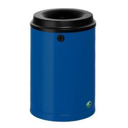 VAR Papierkorb 15 Liter, Mit Wandhalterung und Schloss, Farbe: enzianblau