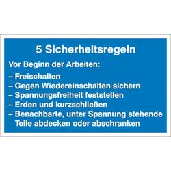 Hinweisschild Sicherheitsregeln Aluminium (B x H) 400mm x 250mm 1St.