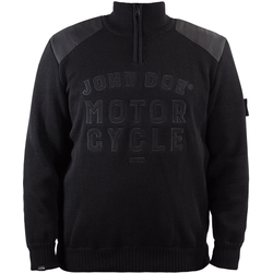 John Doe Knit Zip Big Logo Pullover, black, Größe 2XL