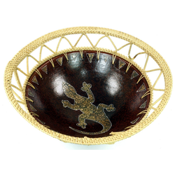 Guru-Shop Dekoschale Keramikschale, Obstschale Ø 27 cm x 27 cm x 14 cm x 27 cm