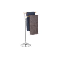 relaxdays Handtuchständer Handtuchhalter stehend aus Stahl