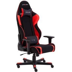 Gaming Sessel in Schwarz und Rot Lendenwirbelstütze