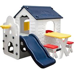 Kinder Spielhaus mit Rutsche - Garten Kinderhaus ab 1 - Indoor Kinderspielhaus