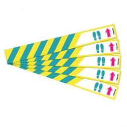 Boden- und Treppenaufkleber Laufrichtung, 5er-Set
