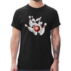 Shirtracer T-Shirt Kegeln alle 9 Kegeln Kugel - Herren Premium T-Shirt 3XL