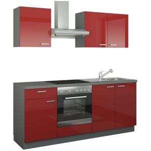 Küchenzeile mit Elektrogeräten ¦ rot » Möbel Kraft