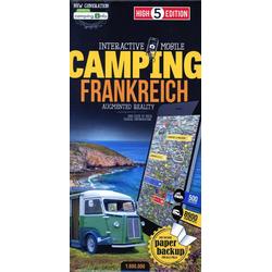 Campingkarte Frankreich 1:800 000