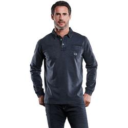Poloshirt langarm Engbers Marineblau
