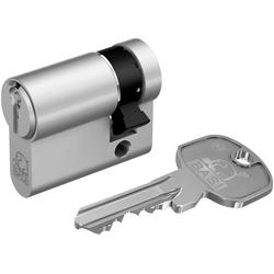 BASI Zylinderschloss 10/70 mm, AS Profil-Halbzylinder silberfarben
