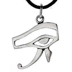 Kiss of Leather Kettenanhänger Auge des Horus Anhänger 925 Silber Schutz Amulett Horusauge ägyptisch, 925 Silber (Sterlingsilber)