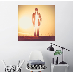 Posterlounge Wandbild, Think Twice 20 cm x 20 cm