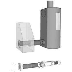 ADURO Ventilator Frischluftsystem Ø80 mm, Frischluftsystem für Kaminofen, Ø 80 mm silberfarben