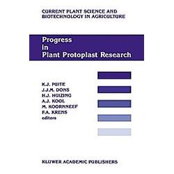 Progress in Plant Protoplast Research - Buch