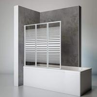 Schulte Duschwand Smart inkl. Klebe-Montage, 127 x 121 cm, 3-teilig faltbar, 3 mm Sicherheits-Glas