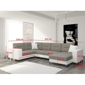 Wohnlandschaft U Form Moderne Wohnzimmer Ecksofa Couch Eck Garnitur Polster U