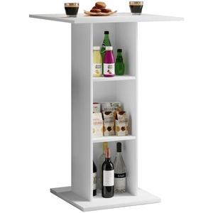 Bartisch Hausbar Tresentisch Küchentisch Küche Tisch Tresen Bar Regal weiss
