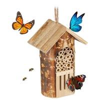 Relaxdays Insektenhotel, Insektenhotel Bienen & Schmetterlinge,