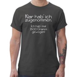 Shirtracer T-Shirt Klar hab' ich zugenommen - Statement - Herren Premium T-Shirt S