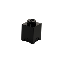 LEGO® Aufbewahrungsstein mit 1 Noppe in Schwarz