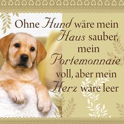 """H&H Romantisches Geschirrtuch """"Ohne Hund wäre..."""" Handtuch"""