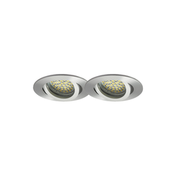 LED Einbaustrahler 2er-SET MR16, GU5.3, 12V, warmweiß, rund 5W Marken-LEDs