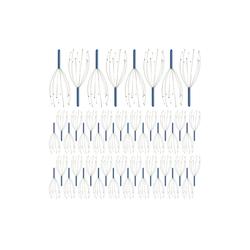 relaxdays Massagebürste 48 x Kopfmassagegerät blau