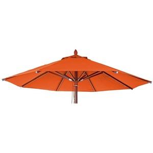 Ersatzschirmbespannung MCW MCW-C57-B, 300x300 cm, Ø 300 cm, Rund, Mit Luftzirkulationshaube zur besseren Wärmeregulierung, Wasser- und schmutzabweisender Stoff orange