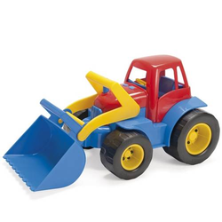 Traktor mit Frontlader aus Kunststoff