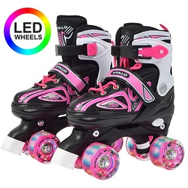 Apollo Rollschuhe Super Quads X-Pro, LED Wheels rosa L (39-42)