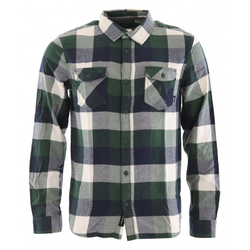 VANS BOX FLANNEL Hemd 2021 pine needle/dress blue - L