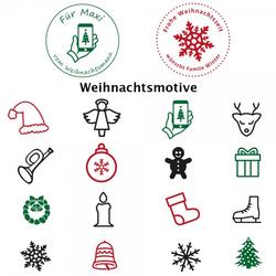 Weihnachten (Ø 40 mm - 2 Zeilen)