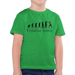 Shirtracer T-Shirt Tennis Evolution - Evolution Kind - Jungen Kinder T-Shirt grün 128 (7/8 Jahre)
