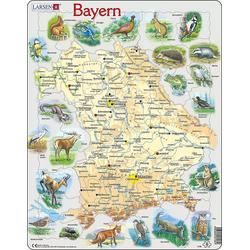Larsen Puzzle Rahmen-Puzzle, 60 Teile, 36x28 cm, Bayern, Puzzleteile